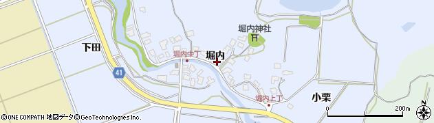 秋田県秋田市金足堀内(堀内)周辺の地図