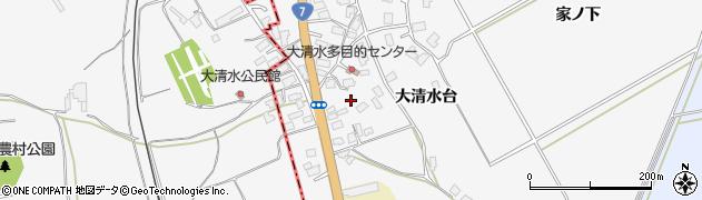 秋田県秋田市金足大清水(大清水台)周辺の地図