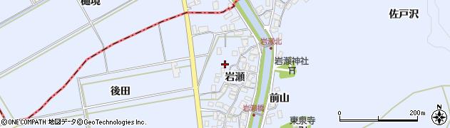 秋田県秋田市金足岩瀬(岩瀬)周辺の地図