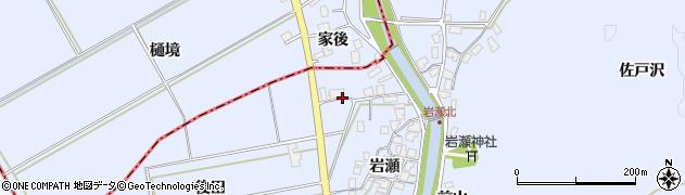 秋田県秋田市金足岩瀬(後田)周辺の地図