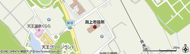 秋田県潟上市周辺の地図