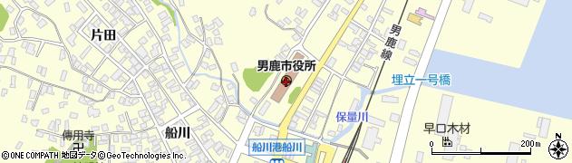 秋田県男鹿市周辺の地図