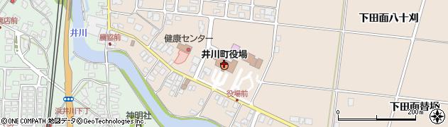 秋田県南秋田郡井川町周辺の地図