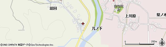 秋田県南秋田郡五城目町舘越舘回156周辺の地図