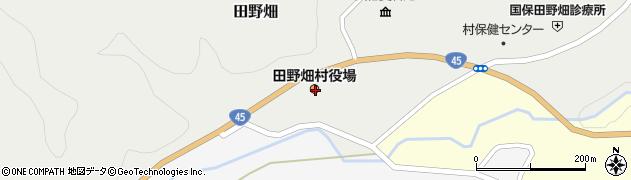 岩手県下閉伊郡田野畑村周辺の地図