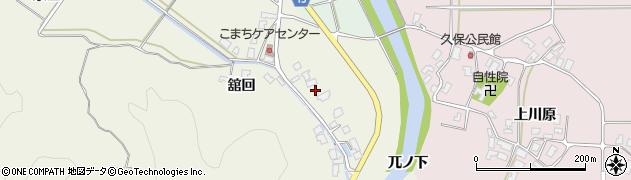 秋田県南秋田郡五城目町舘越舘回169周辺の地図