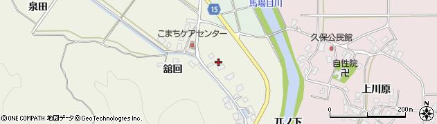 秋田県南秋田郡五城目町舘越舘回171周辺の地図