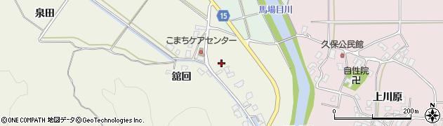 秋田県南秋田郡五城目町舘越舘回172周辺の地図