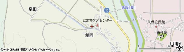 秋田県南秋田郡五城目町舘越舘回周辺の地図