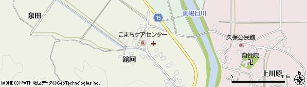 秋田県南秋田郡五城目町舘越舘回175周辺の地図