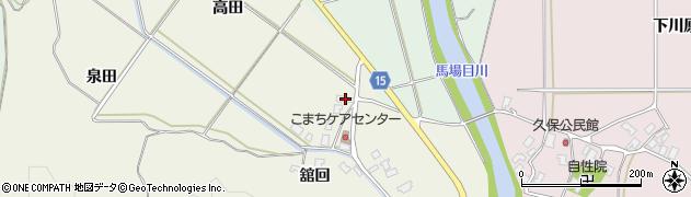 秋田県南秋田郡五城目町舘越舘回214周辺の地図
