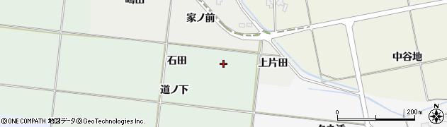 秋田県南秋田郡五城目町大川下樋口石田周辺の地図
