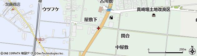 秋田県南秋田郡五城目町大川下樋口関合周辺の地図