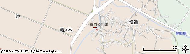秋田県南秋田郡五城目町上樋口槻ノ木周辺の地図