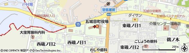 秋田県南秋田郡五城目町周辺の地図