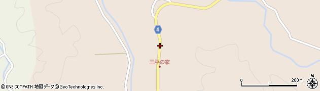 秋田県南秋田郡五城目町内川湯ノ又三千刈周辺の地図