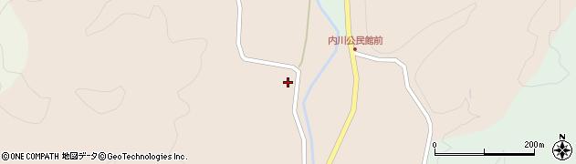 秋田県南秋田郡五城目町内川湯ノ又上川原周辺の地図