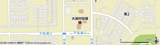 秋田県南秋田郡大潟村周辺の地図