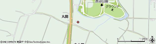 秋田県能代市浅内大開周辺の地図