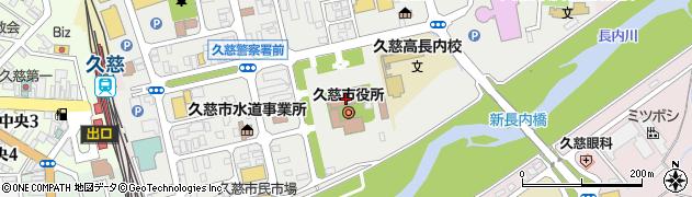 岩手県久慈市周辺の地図