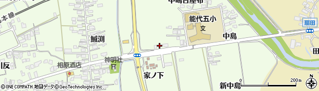 秋田県能代市鰄渕家ノ下周辺の地図
