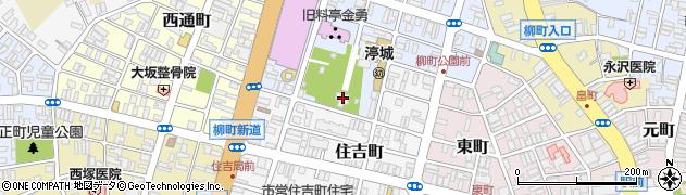 鎮守八幡神社周辺の地図