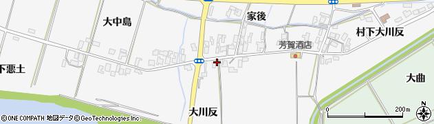秋田県能代市朴瀬大川反周辺の地図
