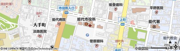秋田県能代市周辺の地図