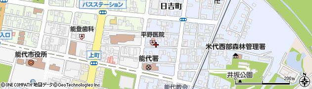 秋田県能代市日吉町周辺の地図