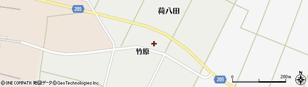 秋田県能代市荷八田竹原周辺の地図