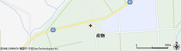 秋田県能代市産物大曲周辺の地図