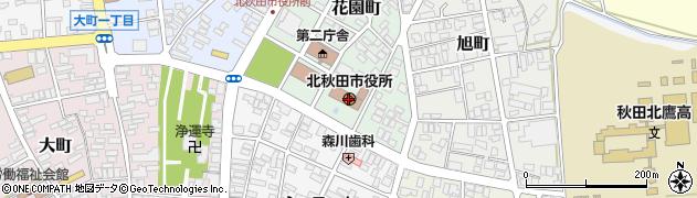 秋田県北秋田市周辺の地図