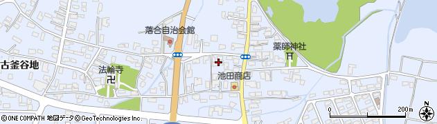 秋田県能代市落合落合周辺の地図