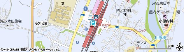 岩手県二戸市周辺の地図