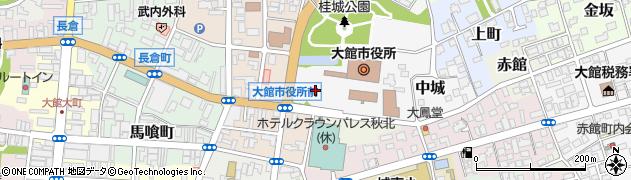 秋田県大館市周辺の地図