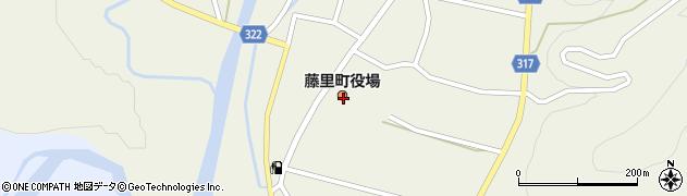 秋田県山本郡藤里町周辺の地図
