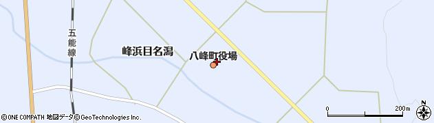 秋田県山本郡八峰町周辺の地図