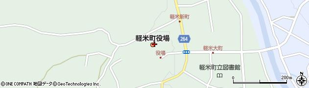 岩手県九戸郡軽米町周辺の地図