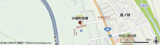 秋田県鹿角郡小坂町周辺の地図