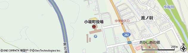 秋田県小坂町(鹿角郡)周辺の地図