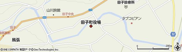 青森県三戸郡田子町周辺の地図
