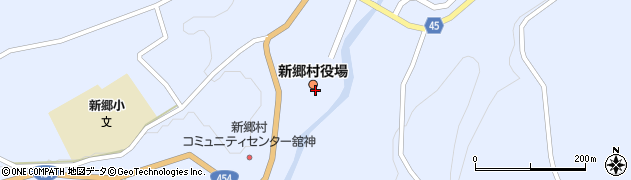 青森県三戸郡新郷村周辺の地図