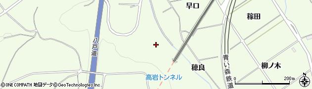 青森県八戸市櫛引(穂良)周辺の地図