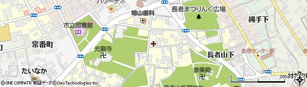 青森県八戸市糠塚(長者山)周辺の地図
