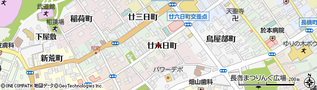 青森県八戸市廿六日町周辺の地図