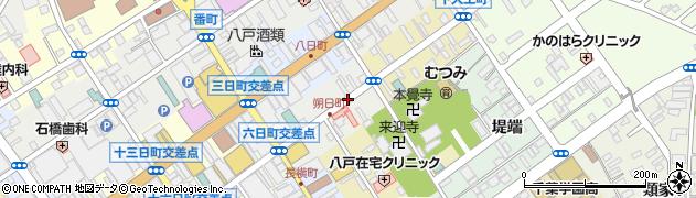 青森県八戸市朔日町周辺の地図