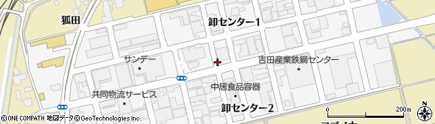 青森県八戸市卸センター周辺の地図