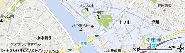 青森県八戸市湊町(本町)周辺の地図