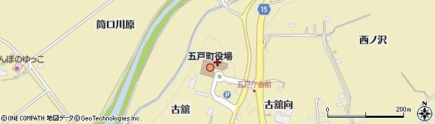 青森県三戸郡五戸町周辺の地図