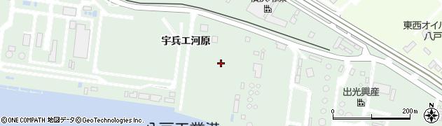 青森県八戸市河原木(宇兵エ河原)周辺の地図